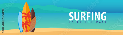 Photo Surfing banner and poster