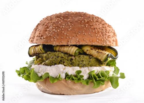 La hamburguesa vegetariana.