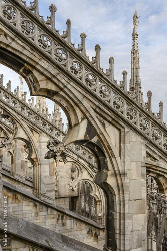 Fényképezés marble buttress at Cathedral, Milan, Italy