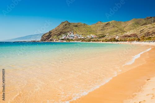 Amazing view of beach las Teresitas Tenerife