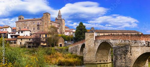 impressive medieval Bormida monastery and castle in regione Asti in Piemonte, It Wallpaper Mural