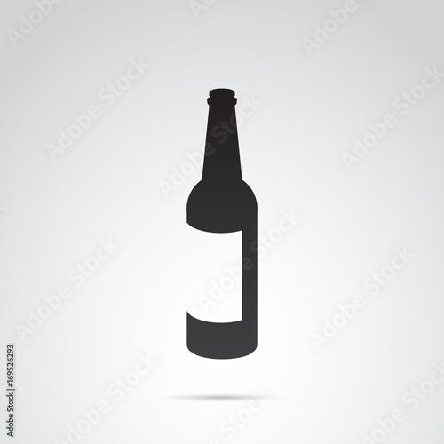 Fotografie, Obraz  Bottle vector icon.