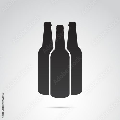 Obraz na plátně  Bottle icon isolated on white background. Vector art.
