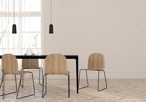 Fotografie, Obraz  Minimalist dining room