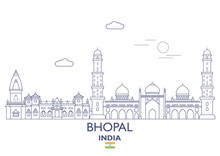 Bhopal City Skyline, India