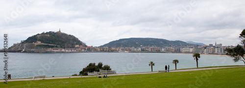 Sea front of San Sebastian, Basque Country, Spain