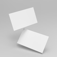 Blank white 3d visiting card template 3d render illustration for mock up and design presentation.