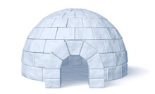 Igloo Icehouse On White Front ...