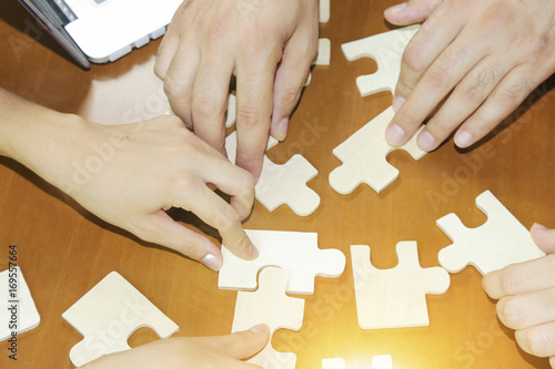 Fototapety, obrazy: Successful businessman and businesswoman. Business partnership or teamwork concept