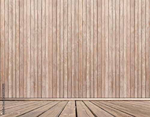 Fototapeta fond terrasse extérieure en bois brut obraz