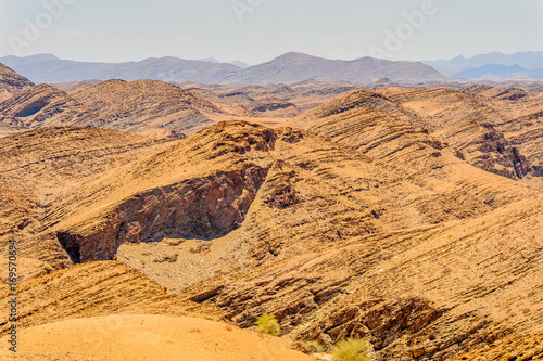 Beautiful landscape of the desert of Namibia