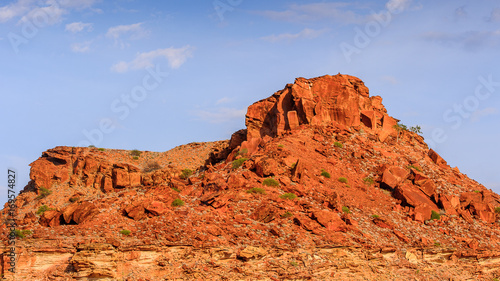 Foto op Canvas Baksteen Rocks of Twyfelfontein, Namibia