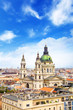 Beautiful view of the Basilica of Saint Stephen and the historic center of Budapest, Hungary