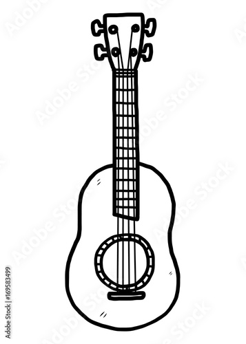 Guitar Cartoon Vector And Illustration Black And White Hand Drawn Sketch Style Isolated On White Background Buy This Stock Vector And Explore Similar Vectors At Adobe Stock Adobe Stock