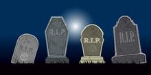 Set Of Halloween Tombs