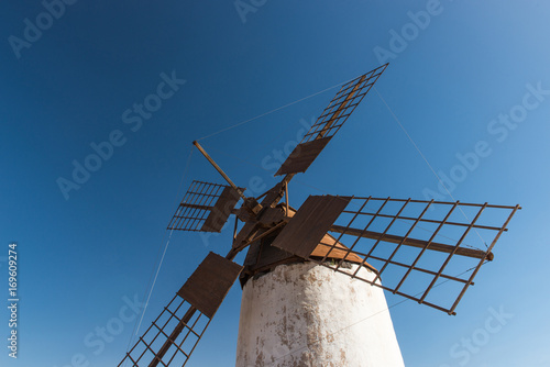 close up of windmill fuerteventura Canvas