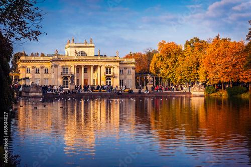 Łazienki Królewskie, widok na Pałac na Wodzie