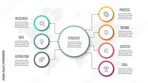 Fotografía Business infographic