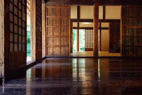 日本の昔の家。 屋内。 伝統的な日本の家。 Canvas Print