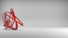 Beautiful Abstract Red Wire Sc...