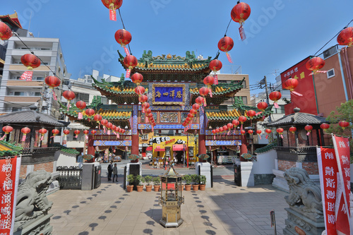 Monument in Chinatown of Yokohama, Japan.