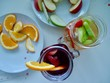 Dinner party with wine and more fruit