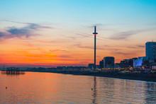 Brighton Sunset Over West Pier