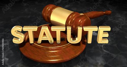Fotografie, Obraz  Statute Legal Concept 3D Illustration