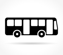 Bus Icon On White Background
