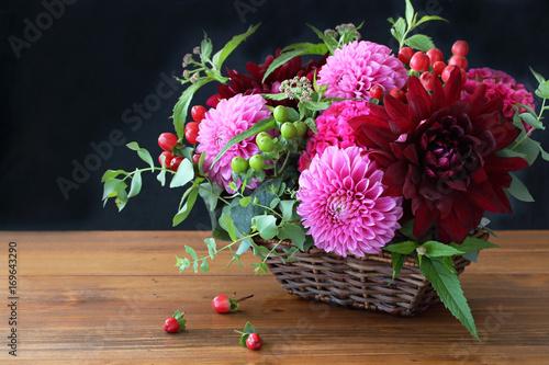 Zdjęcie XXL Jesień kolorowy kwiat