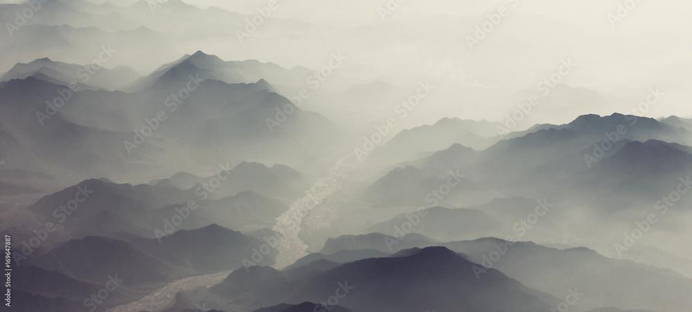Fototapety, obrazy: Mountains silhouette