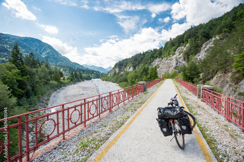 Alpe Adria cycle path, Italy Canvas Print