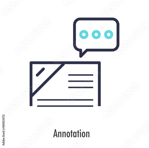 Annotation icon business concept. vector illustration. Canvas Print