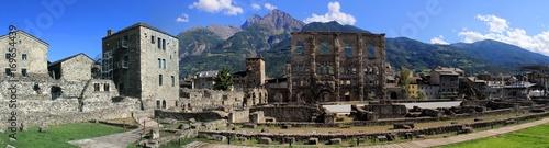 panoramique du théâtre antique d'Aoste, Italie Canvas Print
