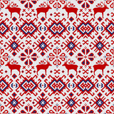 Seamless vector pattern with deers - 169656056