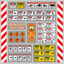 Set Of Safety Signs And Symbol...