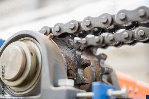 Fotografia, Obraz  The mechanism of the chain transmission