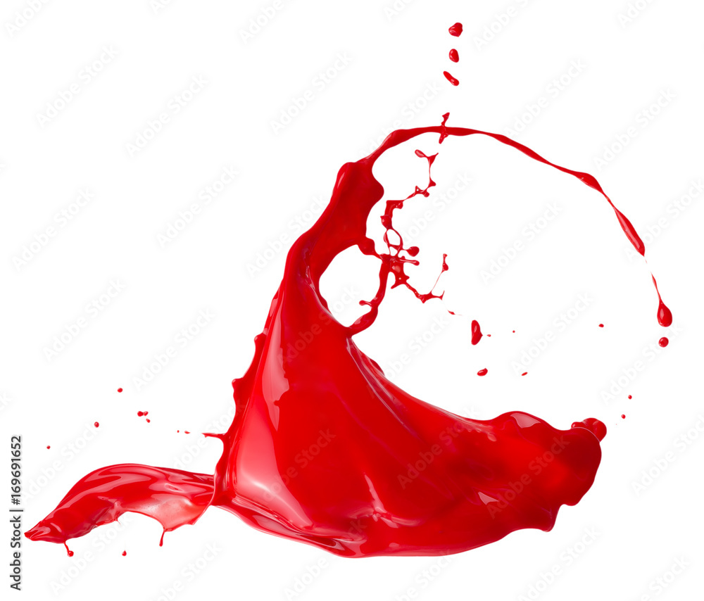 Fototapety, obrazy: red paint splash isolated on a white background