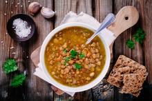 Lentil Soup With Crispbread An...