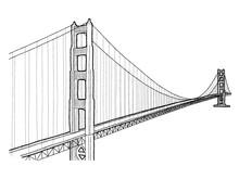 Golden Gate Bridge Vector Illustration Landmark Cartoon Art