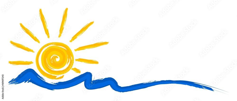 Fototapeta Logo sun and sea.