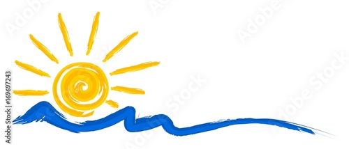 Fototapeta Logo sun and sea. obraz