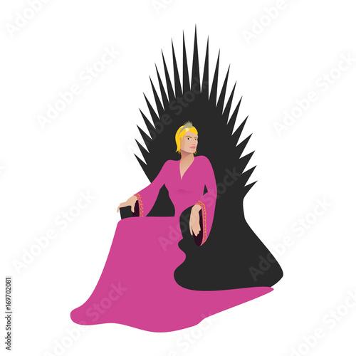 Photo  Reine assise sur un trône
