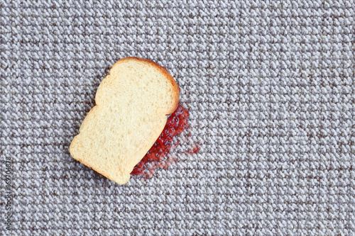Fotografie, Obraz  Sandwich with jam on carpet