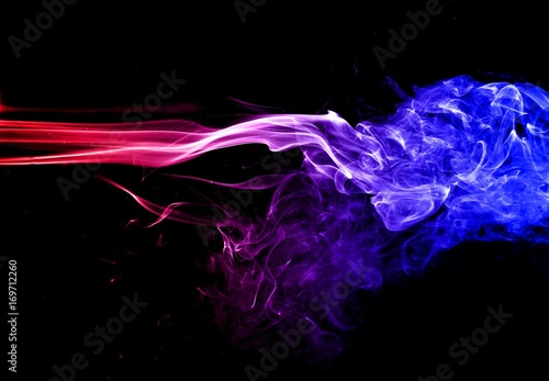 Abstract Colorful Smoke On Black Background Smoke