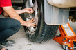 Tire leak car. Tire leakage is doing to remove the car tire leak.