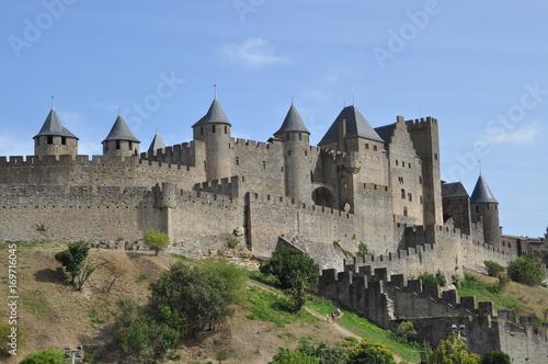 Cité de Carcassonne et son château Canvas Print