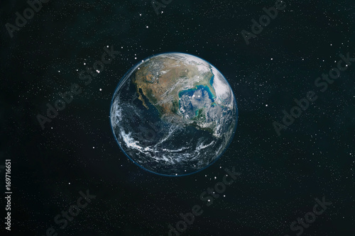 Poster de jardin Nasa The Earth from space. This image elements furnished by NASA.