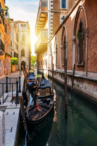 Beautiful Venice city at su...