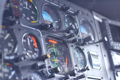 device in the pilot cockpit Wallpaper Mural